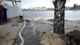 видео берегоукрепление в Киеве