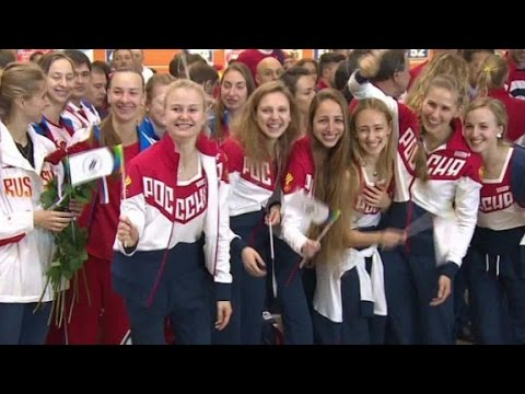 Russian athletes depart for Olympics