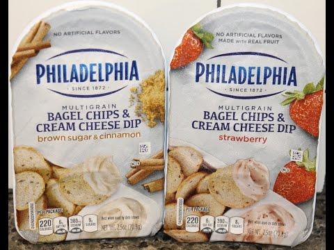 Philadelphia Bagel Chips & Cream Cheese Dip: Brown Sugar & Cinnamon and Strawberry Review