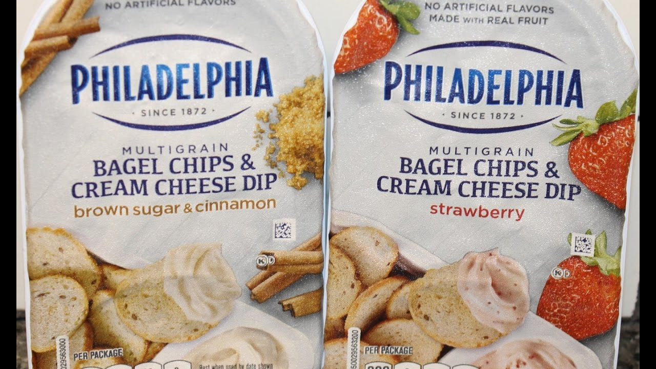 Philadelphia Bagel Chips & Cream Cheese Dip: Brown Sugar & Cinnamon ...