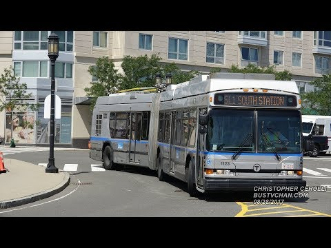 THE NEOPLAN DUAL MODE AN460LF DIESEL ELECTRIC BUSES OF BOSTON MBTA ON THE SL1 AND SL2