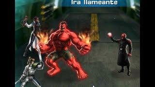 Mostrando HULK ROJO ESTRELLA ROTA & FANTOMEX Marvel Avengers Alliance CRANEO ROJO y Grupo Secreto