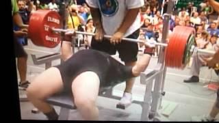 Viktor Testsov 1147,5kg world record total & 357,5kg world record benchpress @ IPF worlds 2012 120+