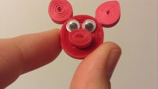 Create a Cute Pig With Quilling Strips - DIY Crafts - Guidecentral