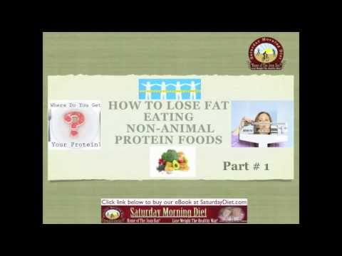 PART #1 HOW TO LOSE FAT-EATING NON-ANIMAL PROTEIN FOODS