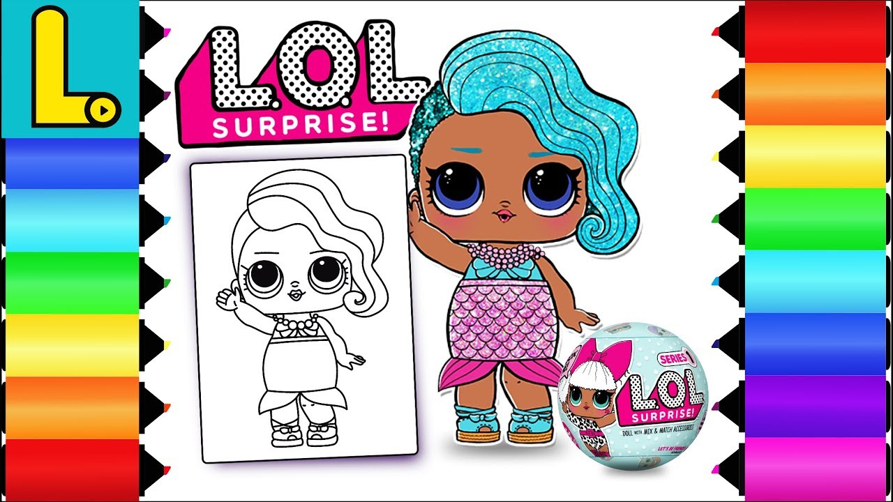 Drawing And Coloring Lol Surprise Doll Splash Queen Printable