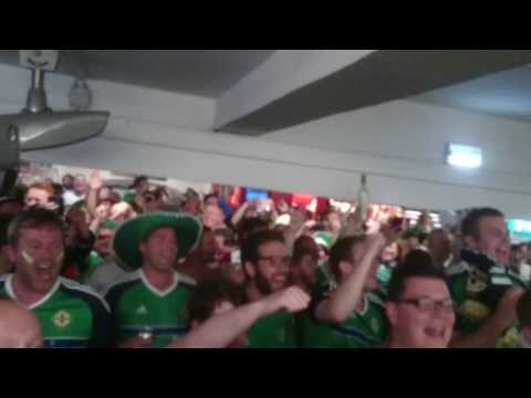 Will Grigg's on Fire. Before NI v Germany in the Paris Metro.
