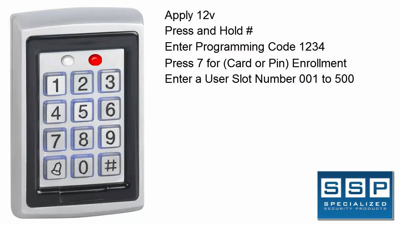 dg500 keypad add and remove users sc 1 st youtube [ 1280 x 720 Pixel ]