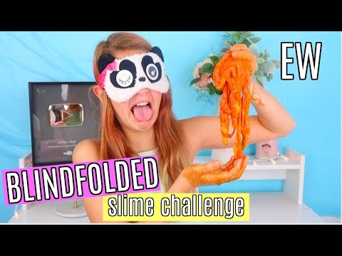 Gross Blindfolded Slime Challenge | Safe No Borax Butter, Fluffy