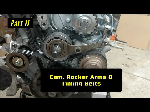 F23 Honda Accord Engine Rebuild Part 11: Cam, Rocker Arms & Timing