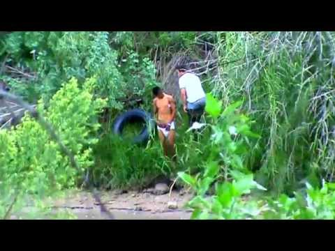 Mexican Refugees Crossing River into Dove Hunters Hidalgo Tx