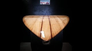 Wooden surfboard Build