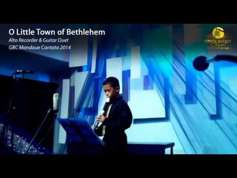 O Little Town of Bethlehem Recorder-Guitar Duet