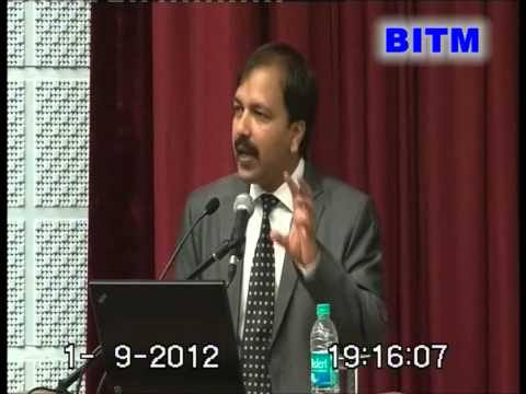 National Seminar 2012 - Mr. Subir Verma ( Sri Balaji Society , BITM )