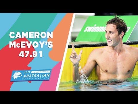 Cameron McEvoy Wins 100m Freestyle 47.91