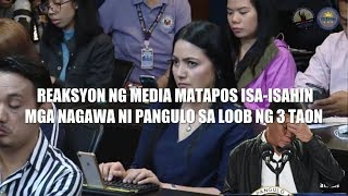 Reaksyon ng-Media sa lahat ng ACCOMPLISHMENT ni Pangulong Duterte