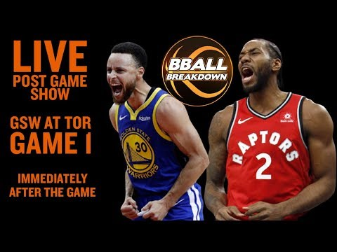 Warriors At Raptors Game 1 LIVE Post Game Show