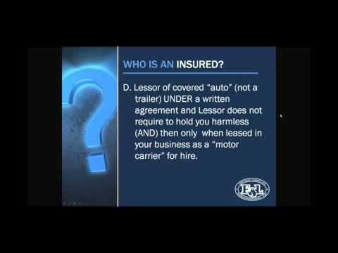 Who Is An Insured - Business Auto & Motor Carrier Coverage Forms