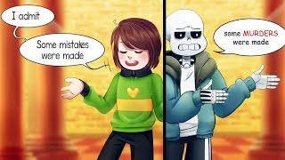 """CHARA, those are not just """"some mistakes""""! (Undertale Comic Dub Com..."""