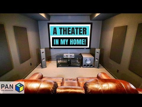 A MOVIE THEATER IN MY HOME !!! MAN CAVE TOUR & HOME THEATER SETUP !!
