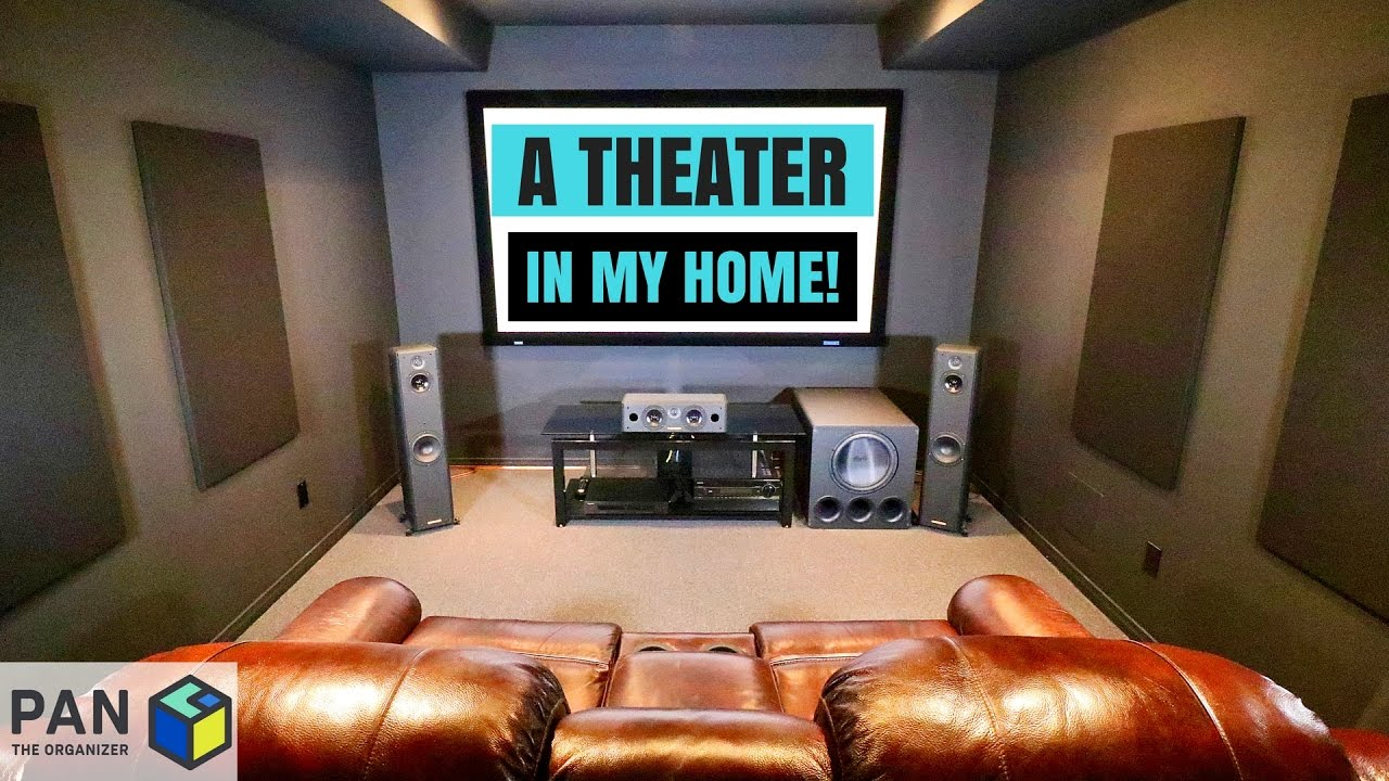 A Movie Theater In My Home Man Cave Tour Setup