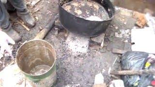 Приготовление корма для вьетнамских свинок в домашних условиях.Preparation of feed.