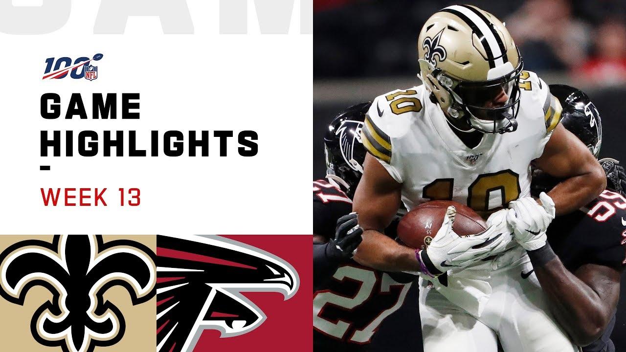 Saints Vs Falcons Week 13 Highlights Nfl 2019