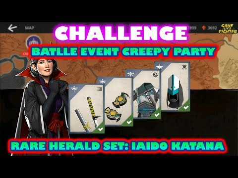 Shadow Fight 3 CHALLENGE - Battle event CREEPY PARTY with New Rare herald set IAIDO KATANA √