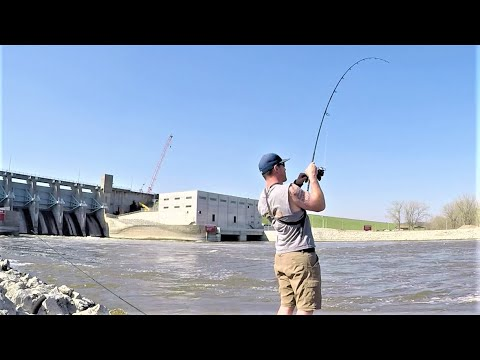 Fishing One Of The Largest Dams In Iowa!! (Big Fish)