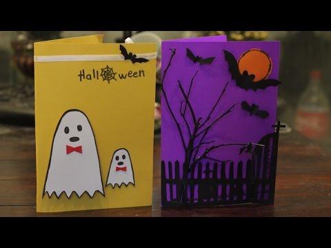 Cách làm thiệp Halloween chỉ riêng mình có