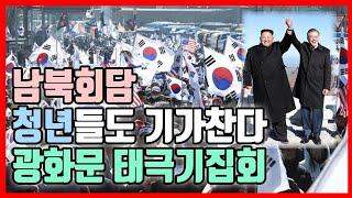남북회담 청년들도 기가찬다, 광화문 태극기집회