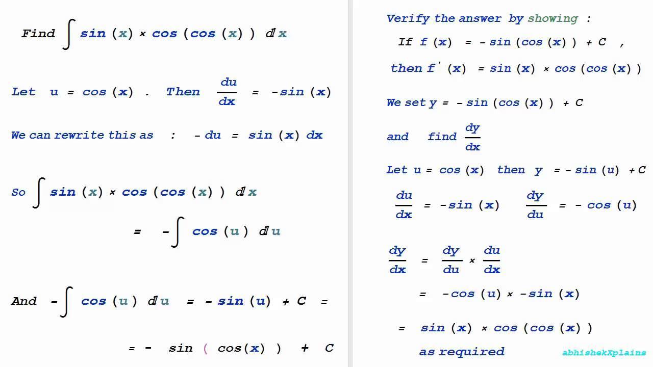 worksheet Antiderivative Worksheet antiderivative worksheet abitlikethis integral of cos indefinite sinxcoscosx