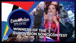The winners of the Eurovision Song Contest