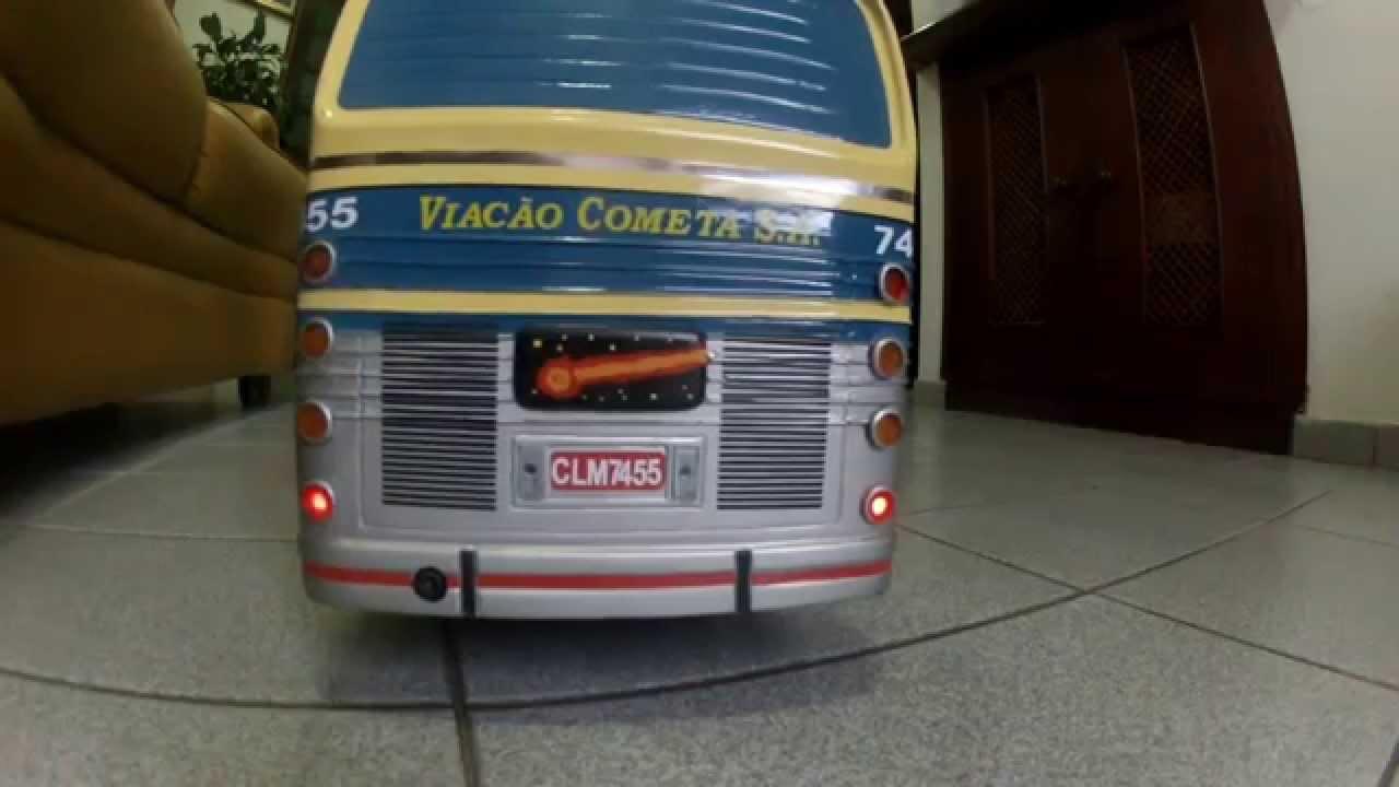2037bab411 Ônibus Flecha Azul Cometa Teste Luz e Som - ECampi.com - YouTube