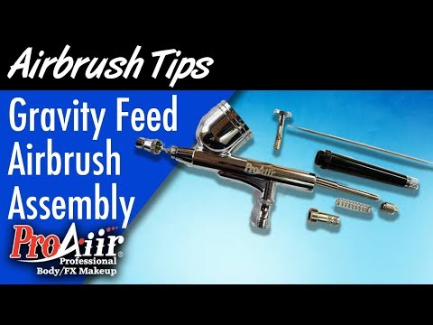 ProAiir Gravity Feed Airbrush Assembly