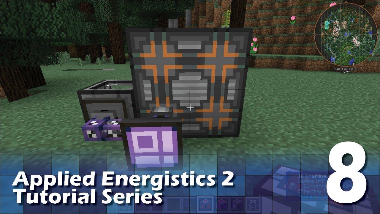 Applied Energistics 2 Tutorial 8 Basic Autocrafting Youtube