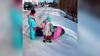 Зимние развлечения.