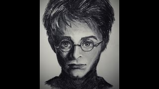 charcoal potter harry easy drawing portrait fast