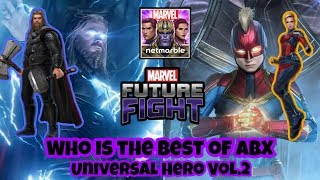 Captain Marvel VS Thor  Who is the best of ABX Universal Hero Vol.2 - Marvel Future Fight
