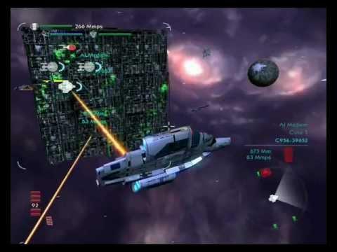 Star Trek the borg attack earth Sector 001