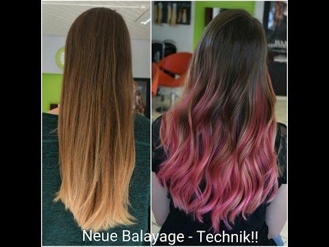 Neue Balayage Technik!! Mit Magenta - Roten & Pinken Strähnen!