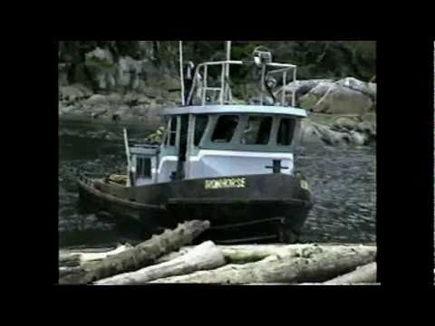 Tug Gulf Regent. log barge rock bay and rivers inlet 1