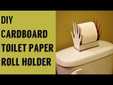 DIY: Toilet paper roll holder using cardboard