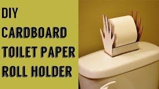 DIY: Toilet paper roll holder using cardboard