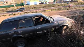 Первый тест драйв Subaru Leone на заднем приводе