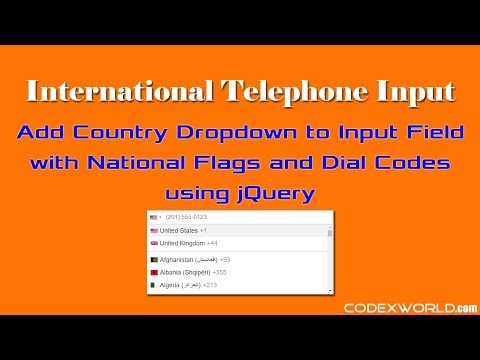 International Telephone Input With Dial Codes And Country Flags Using JQuery