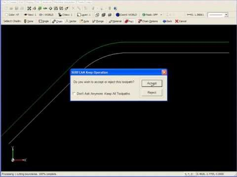 SURFCAM Tutorial - 2-Axis: Contour Machining