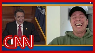 Chris Cuomo stops by brother Gov. Andrew Cuomo's briefing