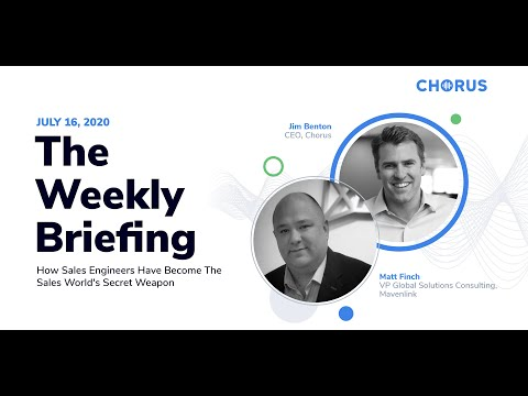 The Weekly Briefing - How Sales Engineers Have Become The Sales World's Secret Weapon