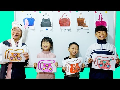 Hunter Kids Go To School Learn Colors hand bag | Classroom Funny Nursery Rhymes